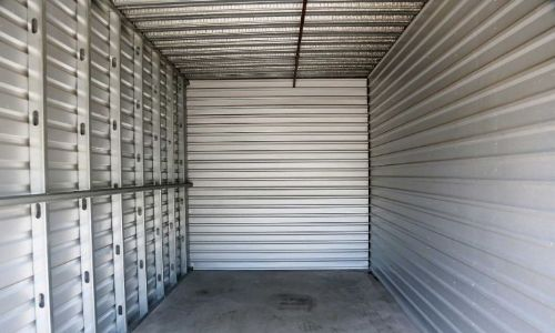 Large, empty 20x20 storage unit waiting to be filled.