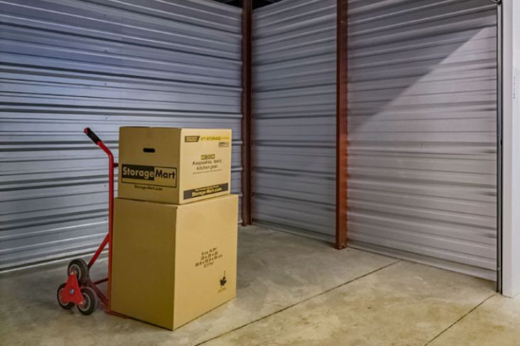 Boxes in cliamte controlled storage unit