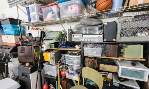 Items in a storage unit