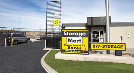 StorageMart on Barlow Trail SE in Calgary gated access