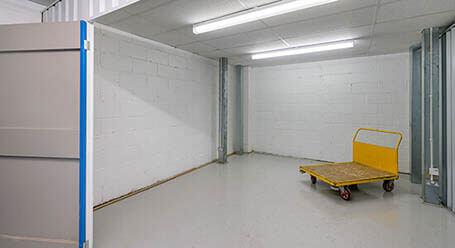 StorageMart on Chapel Road in Portslade indoor storage room