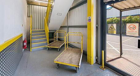 StorageMart on Durban Road in Bognor Regis stairway acess