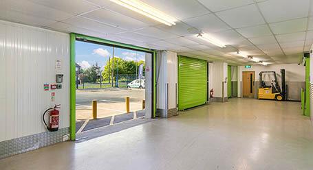 StorageMart on Shrub End Road in Colchester loading bay