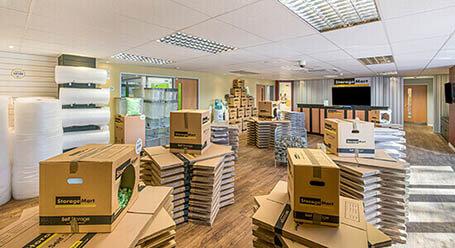 StorageMart on Shrub End Road in Colchester self storage facility
