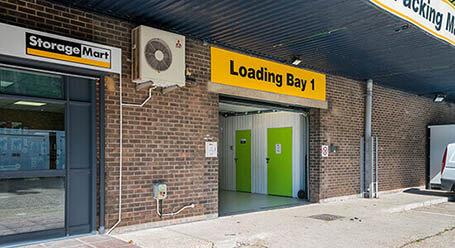 StorageMart on Stevenson Road in Brighton loading bay