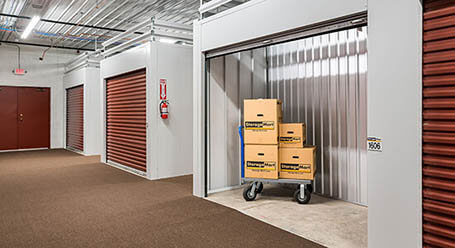 StorageMart on Syscon Rd in Burlington, ON Heated Unit With Moving Cart
