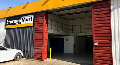 StorageMart on Vulcan Road in Norwich loading bay